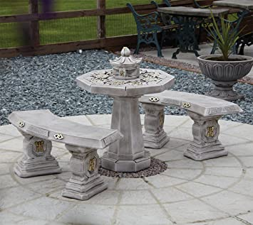 japanese patio furniture. Garden Furniture - Japanese Stone Benches \u0026 Table Patio Set R