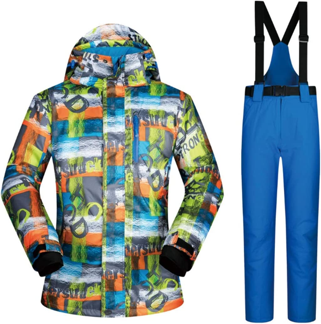 Wazenku スキージャケットとパンツスノースーツ防風&防水 (色 : 04, サイズ : XXL)  XX-Large