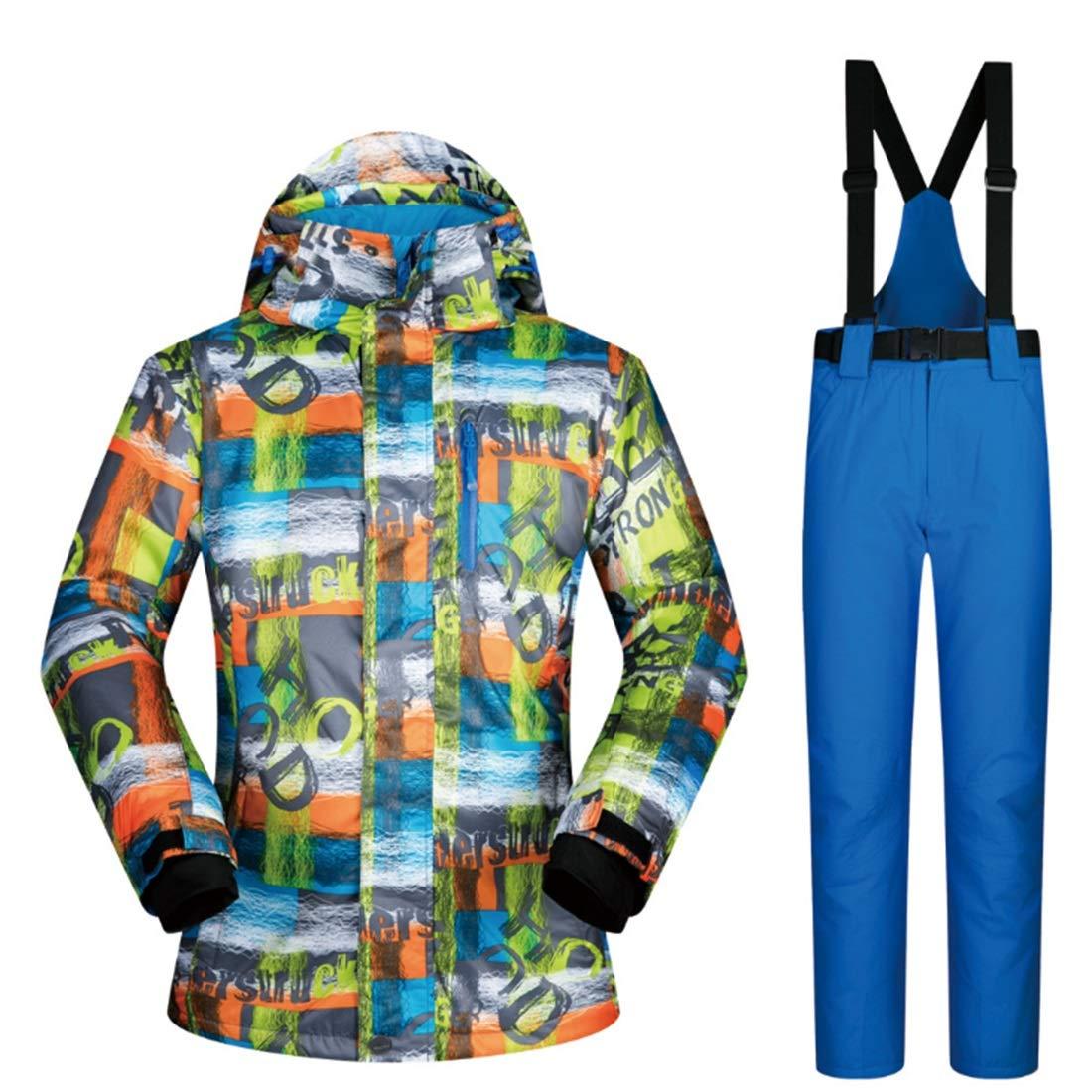 Nalkusxi Giacca da Sci Invernale e Pantaloni Outdoor Sport Suit Neve da Neve Suit Antivento e Impermeabile (Coloree   02, Dimensione   XL)B07KQ791NKL 04 58e35e