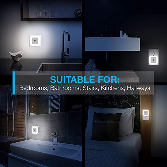 Amazon.com: Luz LED de noche con sensor inteligente Dusk to ...