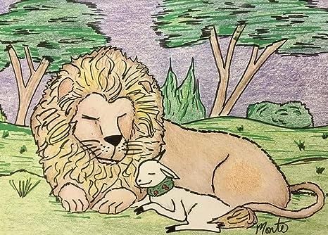 Lion Lamb Art Project