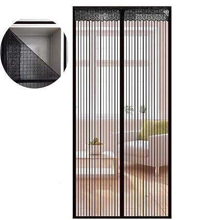Icegrey Fliegengitter Tür Insektenschutz Magnet Fliegen Gitter Vorhang Fliegenvorhang für Balkontür Wohnzimmer Klettband Fass