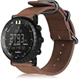 Suunto Watch Band Compatible with Core, Fintie Leather Strap Replacement Wrist Bands with Metal Clasp Compatible with…