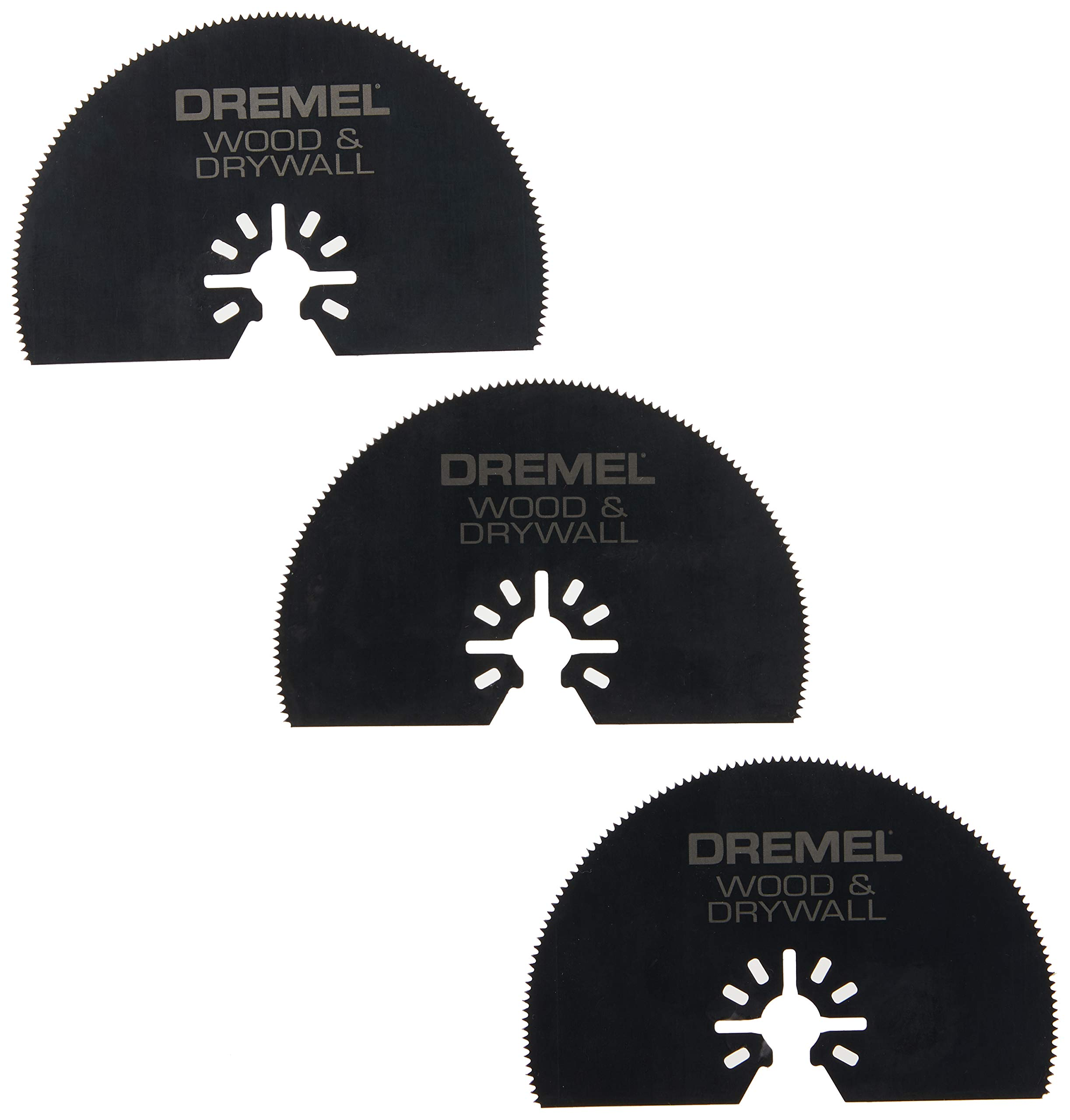 Dremel MM450B Universal Quick-Fit Multi-Max Wood Drywall Oscillating Tool Saw Blade, 3-Pack – Multi Tool Accessories- Perfect for Cutting Wood and Drywall , Black