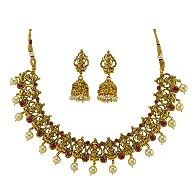 Buy Desire Collection Necklace Set For Women Traditional Temple