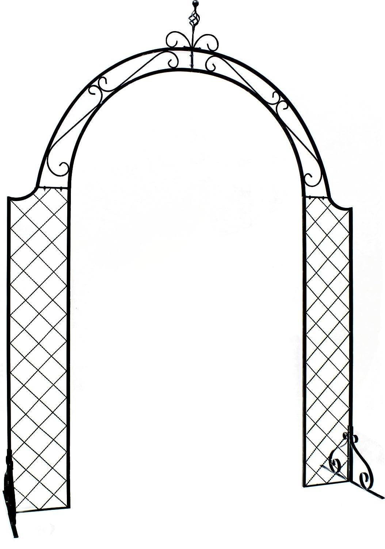 メッシュアイアンアーチ 幅180.5cm×奥行62cm×高さ248cm SS-IPN-7975 B01K1NVDUG   1台単体