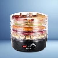 DEVANTI 5 Trays Food Dehydrator Jerky Dryer Maker Fruit Black