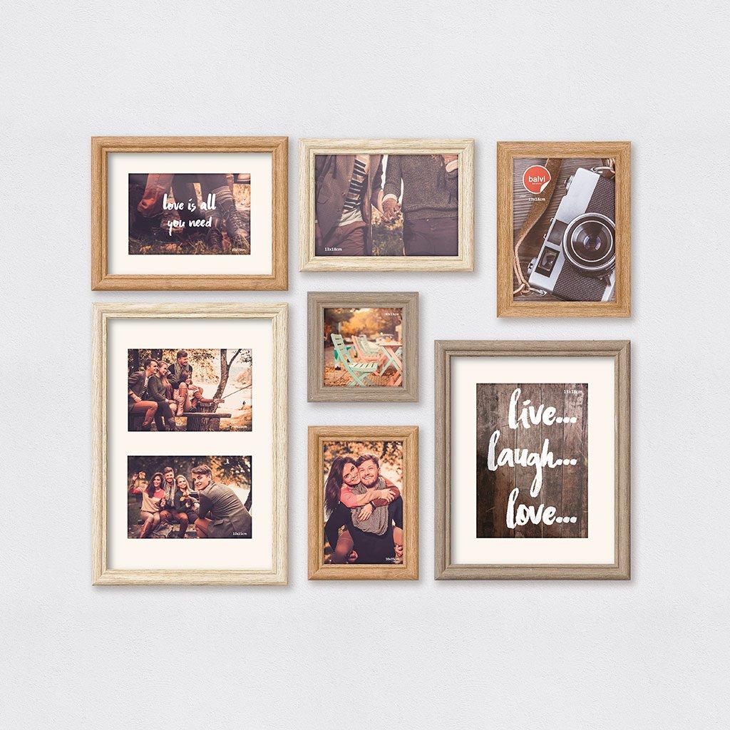 Amazon.de: balvi - Wall Deco Set Bestehend aus 7 Bilderrahmen für ...