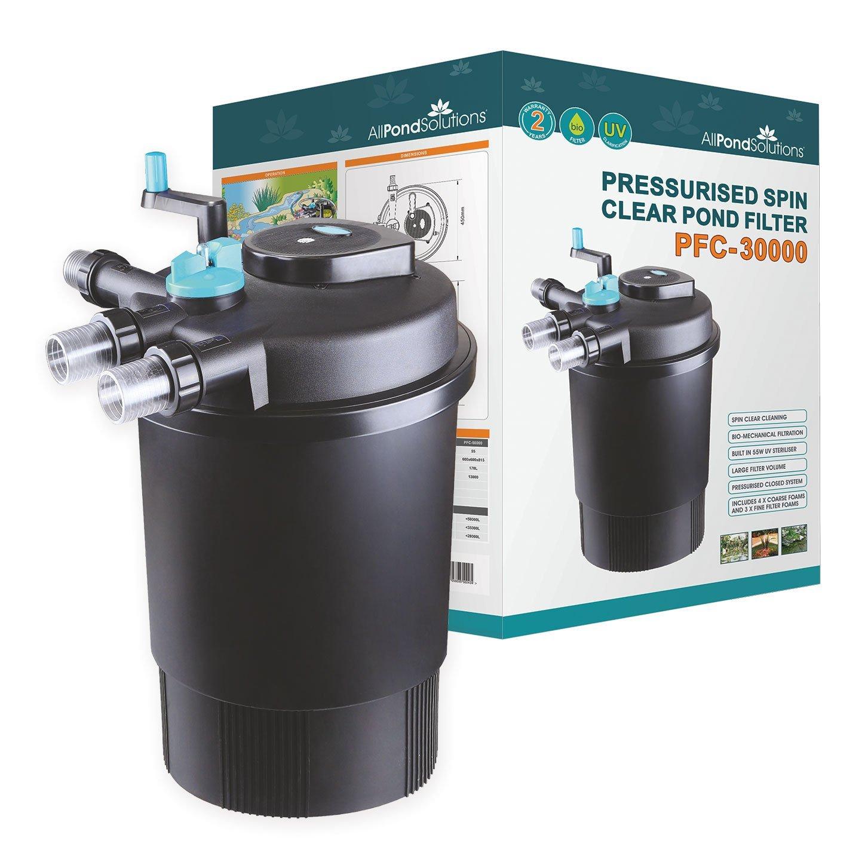 30000 Litre Pressurised Koi Fish Pond Filter UV Light Steriliser all in one (PFC3000)
