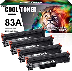 Cool Toner Compatible Toner Cartridge Replacement for HP 83A CF283A MFP M127fw for HP M225dn M201dw M127fw M125nw M225dw HP Laserjet Pro MFP M127fw M125nw HP Laserjet Pro M201dw Toner Ink Printer- 4PK