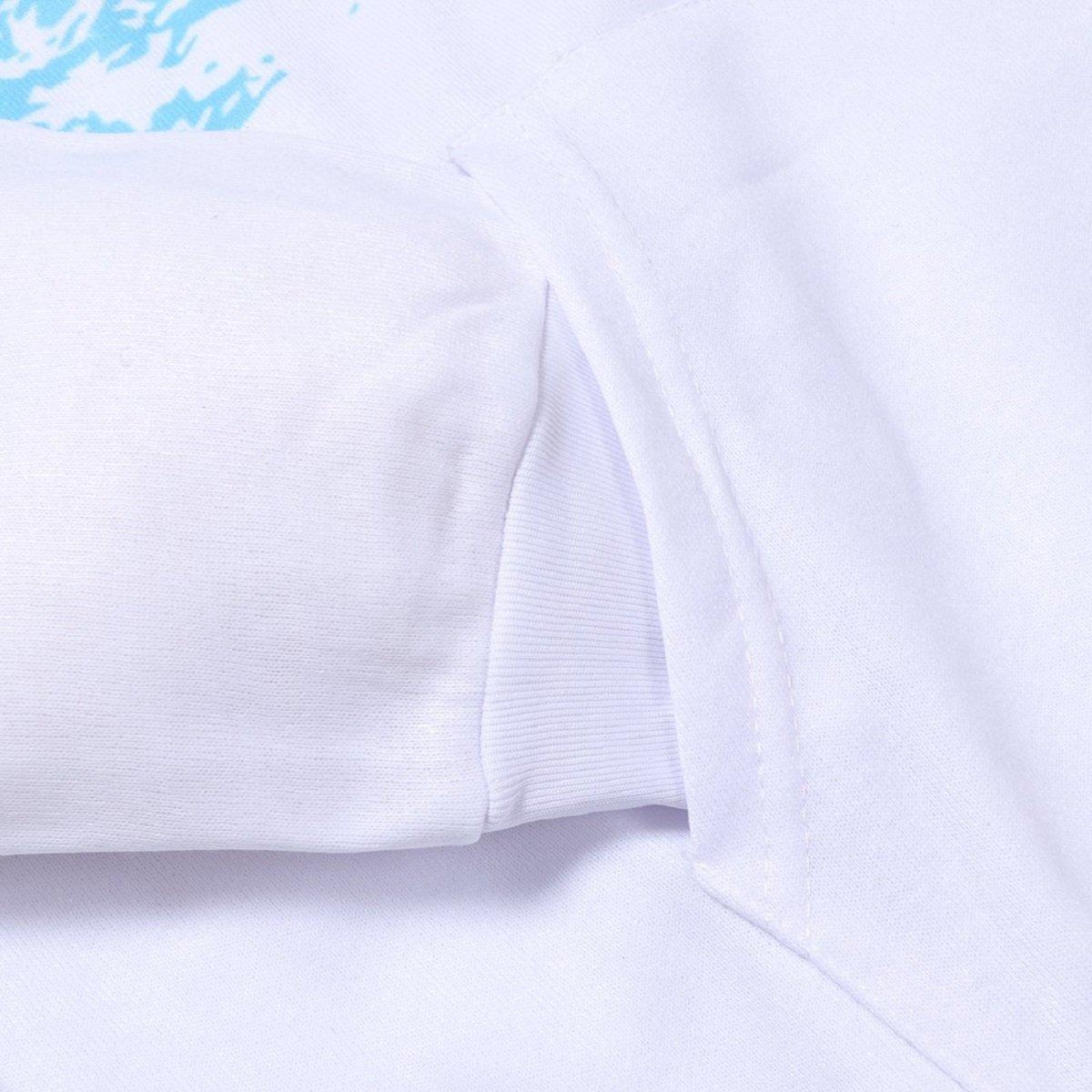 Goodstoworld Unisex 3D Zip Hoodie Novelty Printed Sweatshirt with Big Pockets S-2XL
