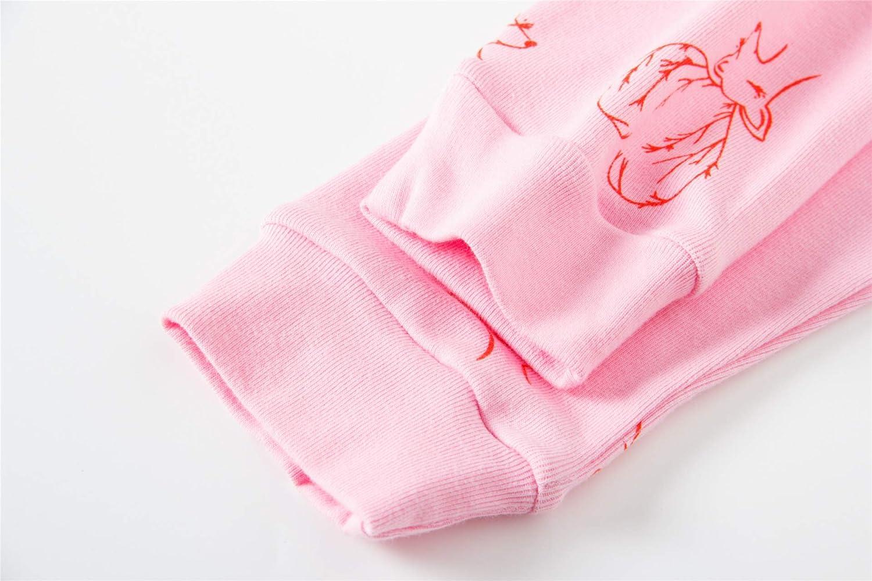 Little Girls Pajamas Kids Pjs Sleepwear Toddlers Cotton Clothes Set
