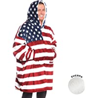 THE COMFY: Original Blanket Sweatshirt, Seen on Shark Tank, Invented by 2 Brothers, Warm, Soft, Cozy, Multiple Colors, 1 Size Fits All, Men, Women, Girls, Boys, Friends Stars and Stripes