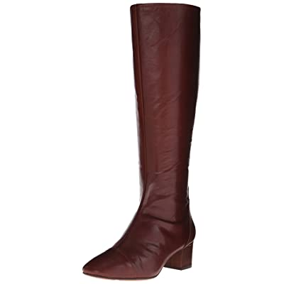 Nine West Women's Anatolia Leather Knee High Boot, Dark Brown, 6.5 M US | Knee-High