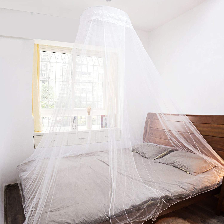 Moustiquaire Lit Grand Moustiquaire Filet Kit de Suspension Anti-Moustique-Insectes Moustiquaire pour Lits Simples et Doubles AIMTOP Moustiquaire Sac de Transport