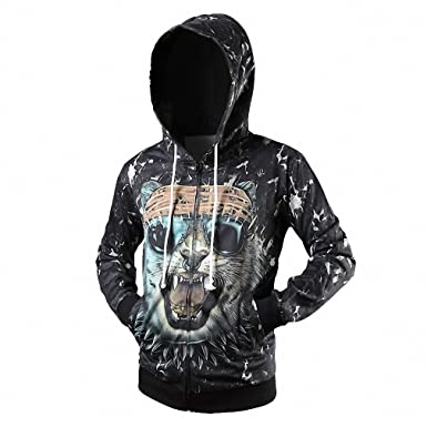 Fashion hoodies 3D Animal Print Tiger Jacket Men Women Haraju Streetwear Casual Sweatshirt Sudaderas Tracksuit Brand Clothes at Amazon Womens Clothing ...