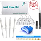Teeth Whitening Kit - Plus BONUS FREE Advanced Teeth Whitening Pen - Zero Hydrogen Peroxide - Best Pro At Home Whitener - Natural Ingredients Gel for a white healthy smile - No bleach for sensitive tooth