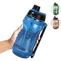 2.5L Plastic Flip-Top Water Bottle – Water Bottle with Handle – Leak Proof Sports Bottle – BPA-free Plastic Material…