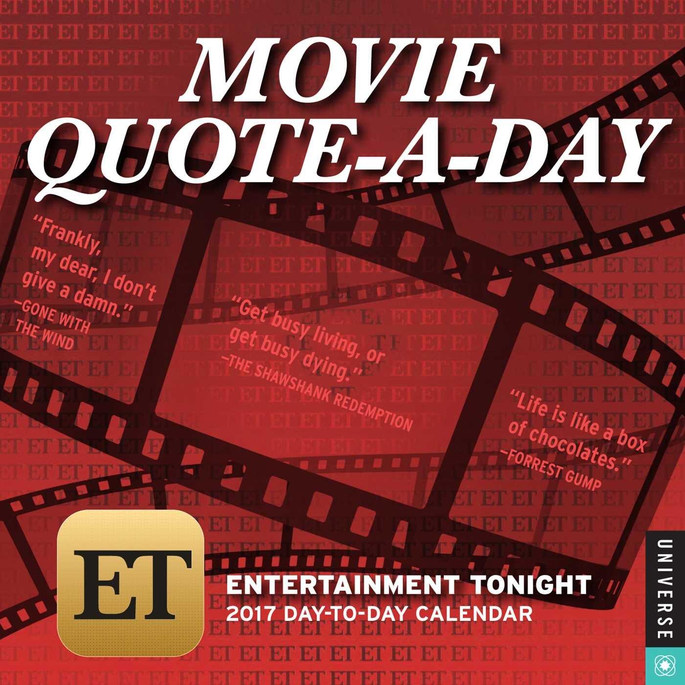 Entertainment Tonight Movie Quote Calendar Product Image