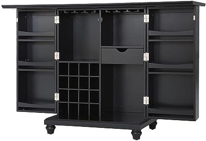 Amazon.com: Crosley Furniture Cambridge Expandable Top Bar Cabinet ...