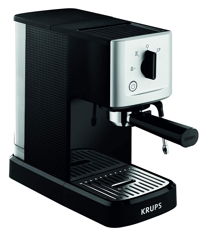 Krups XP3440 Máquina espresso, 1500 V, 1.1 L, acero inoxidable, color negro y gris