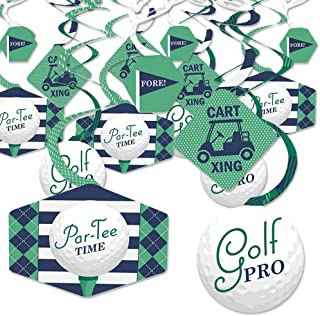 product image for Par-Tee Time - Golf - Birthday or Retirement Party Hanging Decor - Party Decoration Swirls - Set of 40