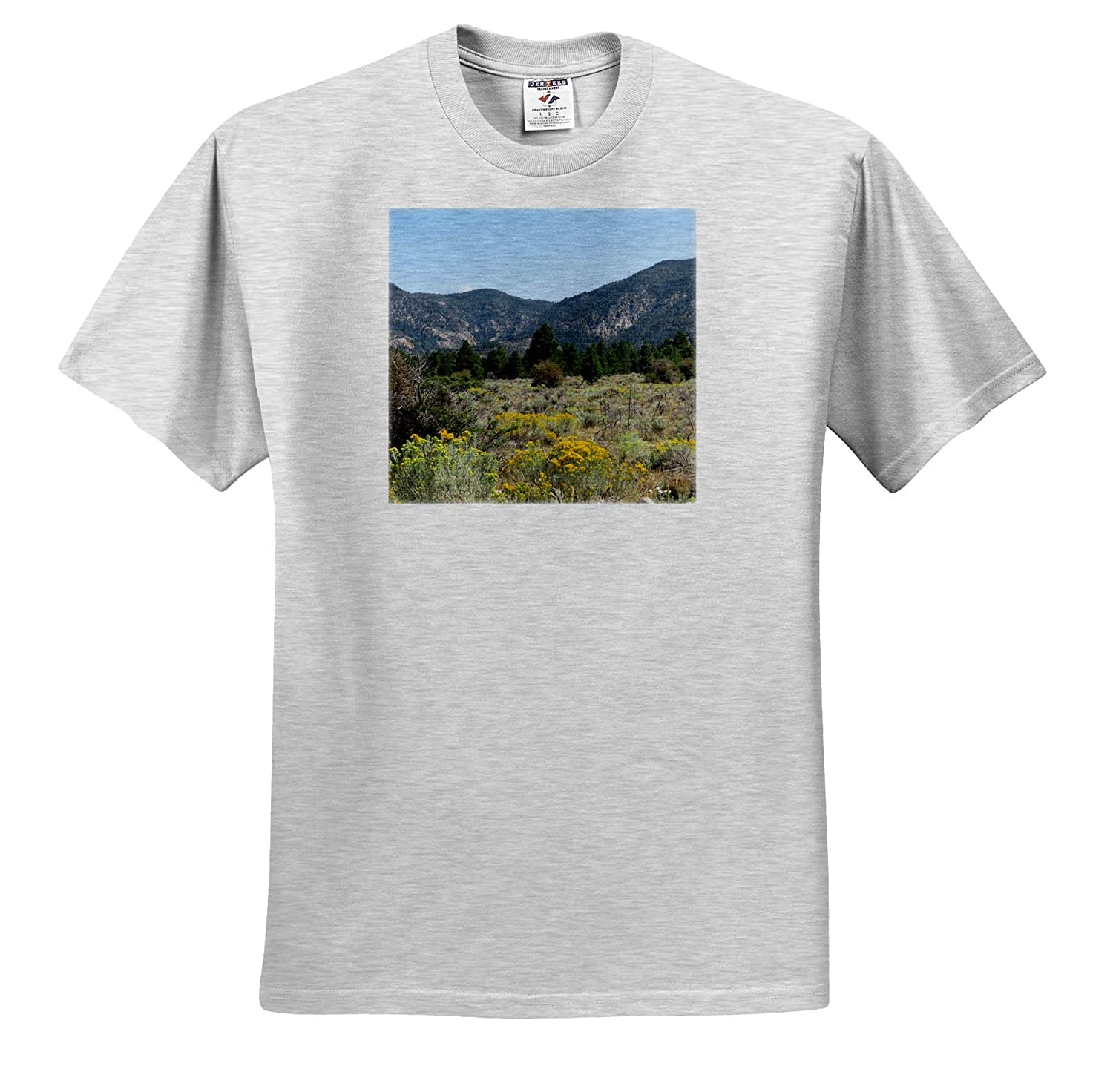 Pine Valley Scenery Pine Valley Utah Scenery with Rabbit Brush and Trees 3dRose Jos Fauxtographee T-Shirts