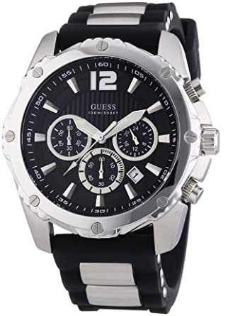 mens guess watch black tone chronograph sports collection w0167g1 mens guess watch black tone chronograph sports collection w0167g1
