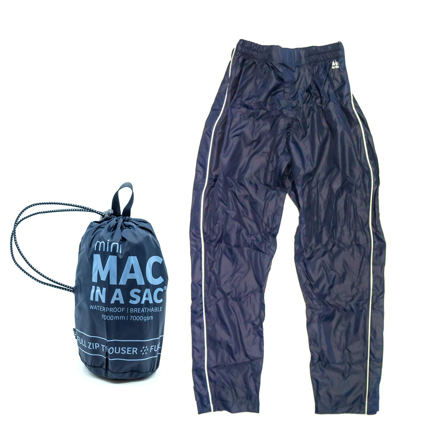 Mac in a Sac Over trousers *Navy* Waterproof *Breathable* Taped Seams* Unisex