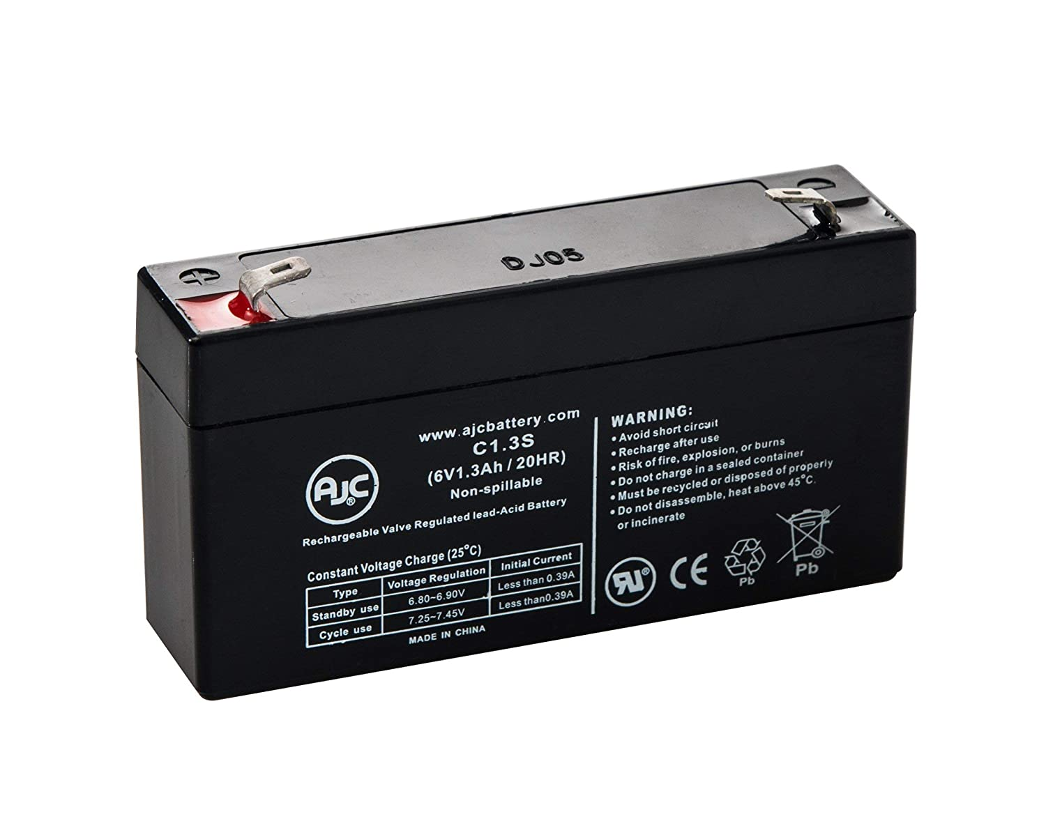 Leoch DJW6-1.2 Sealed Lead Acid - AGM - VRLA Battery - This is an AJC Brand Replacement AJC Battery