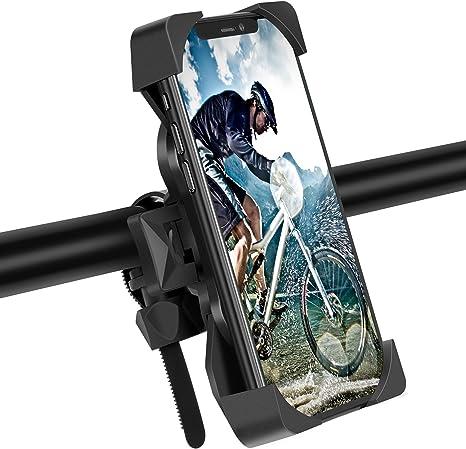 Modohe Soporte Movil Moto, Universal 360° Soporte Movil Bicicleta para iPhone 12 Mini, 12 Pro MAX, 11 Pro, XS, MAX, X, XR, 8, 7, 6S, Samsung S10 S9 ...