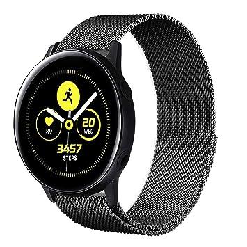 Urtone Correa de Metal para Samsung Galaxy Active 40 mm, Correa de Reloj de Acero Inoxidable para Samsung Galaxy Active/Galaxy Active 2 / Gear Sport ...