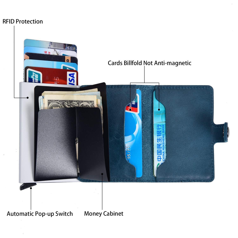 Kreditkartenetui Secarier Echtleder Kartenetui Slim Wallet