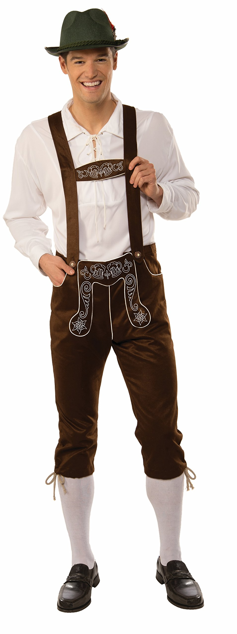 Forum Men's Deluxe Lederhosen, Brown, X-Large by Forum Novelties (Image #1)