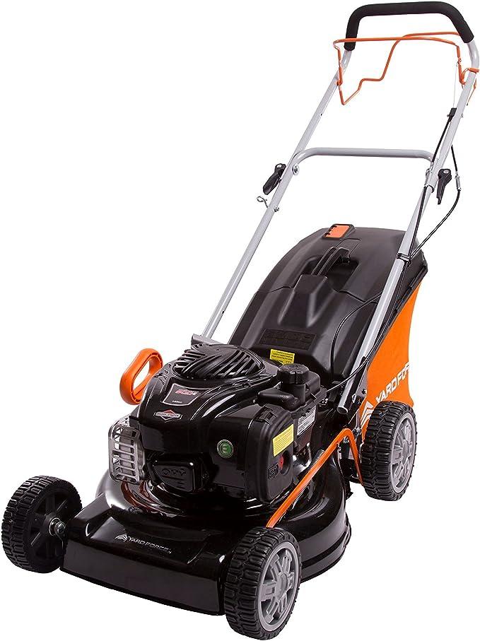 Yard Force 46cm Self Propelled Petrol Lawnmower - Heavy-Duty Self-Propelled lawnmower for Mid-Sized Gardens
