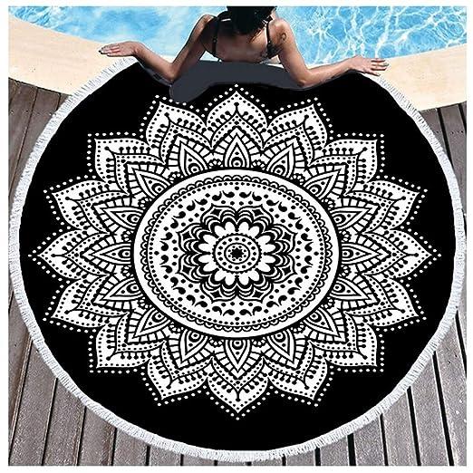 Toalla de Playa, Estera de Yoga Redonda con Volantes Chal de ...