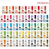 DERMAL Collagen Essence Full Face Facial Mask Sheet, 39 Combo Pack