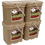 240 Serving Meat Package Includes: 4 Freeze Dried Meat Buckets Camping,hiking,travel