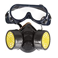 Chemical Industrial Gas Anti-Dust Spray Paint Face Mask Respirator + Goggles