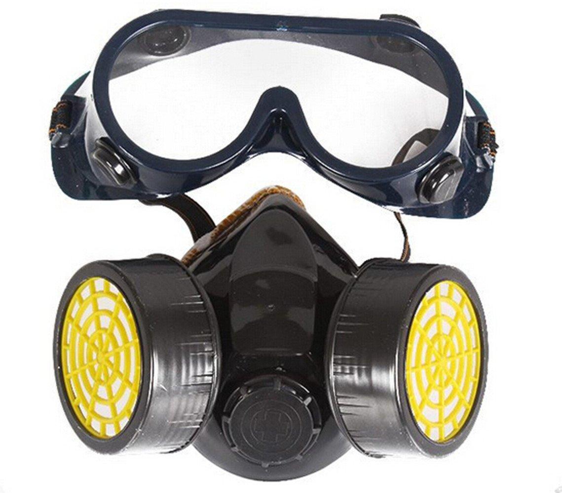 Químico Industrial Gas Antipolvo Pintura en aerosol Mascarilla Respirador + Gafas