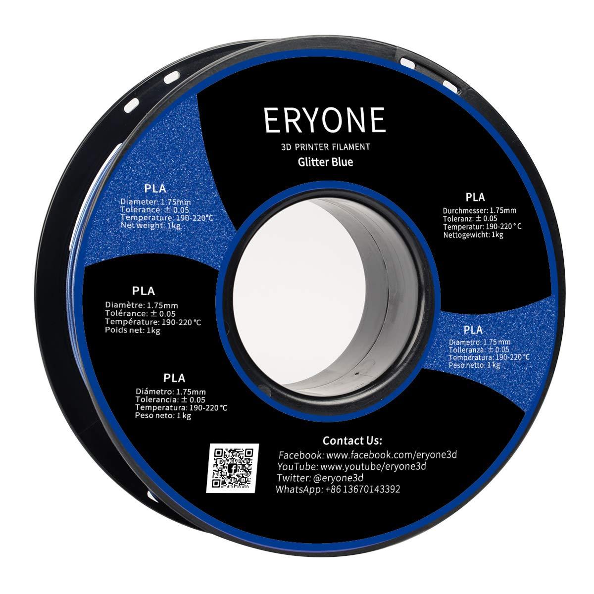 1KG 1 Spool ERYONE PLA Filament For 3D Printer and 3D Pen Filament PLA 1.75mm Sparky Silver Glitter Silver