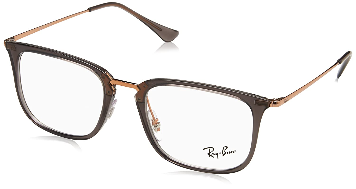 01dfd5f6faa Amazon.com  Ray-Ban Men s RX7141 Eyeglasses Trasparent Grey 52mm  Clothing