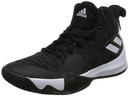 ddda30f3e7 adidas Explosive Flash, Scarpe da Basket Unisex-Bambini, Nero (Cblack/Carbon