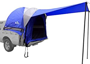 Hasika Waterproof Double Layer Full Size Truck Short/Regular Bed 5.5-6.7 Foot Tent with Floor Blue Grey