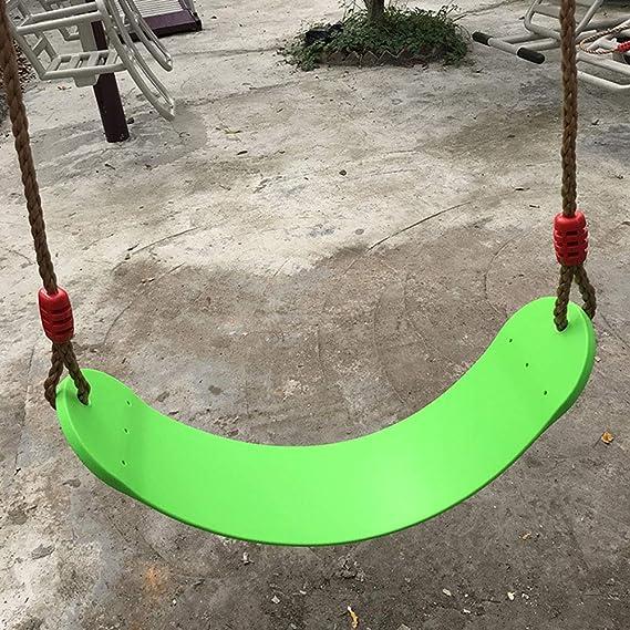 ANPI Columpio para niños, Asiento con Cuerda Ajustable para Juegos de jardín en el Patio al Aire Libre: Amazon.es: Juguetes y juegos