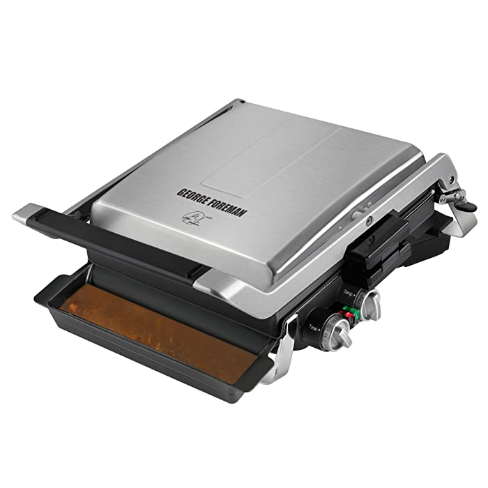 George Foreman GRP3102SBB 6 Serving Removable Plate Grill, Stainless Steel