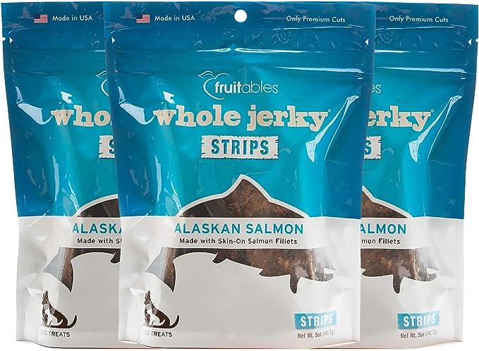 Fruitables Whole Jerky Alaskan Salmon Dog Treats 5 Ounce