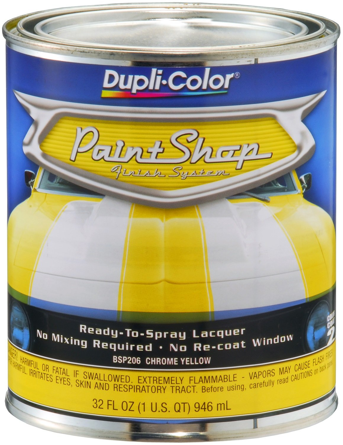Dupli Color Bsp206 Chrome Yellow Paint Shop Finish System 32 Oz Ebay