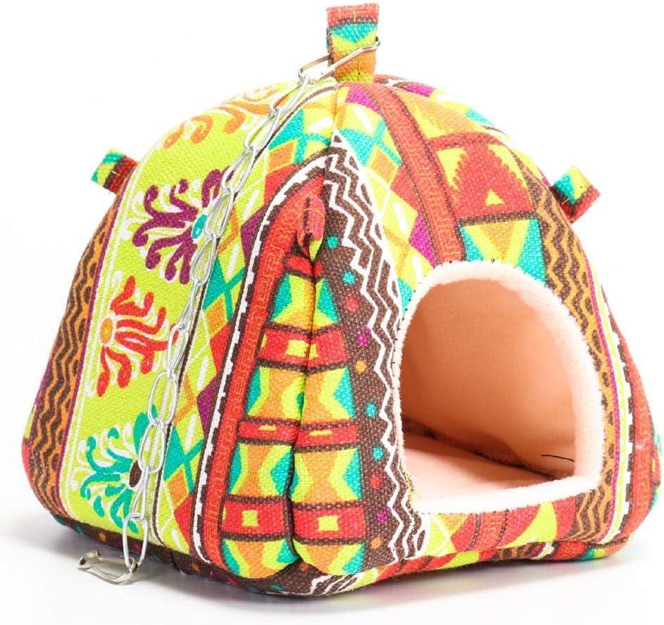 DonLucancy Hamster Carpa Cama Casa Hamaca Colgante Jaula para Dormir Nido de Invierno para pequeño Loro Hurón de cobaya