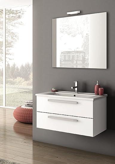 ada,mobile arredo bagno completo di lavabo e specchio,mis. l85xp45 ... - Mobile Arredo Bagno Completo